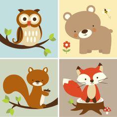 Free Woodland Animal Nursery Printables