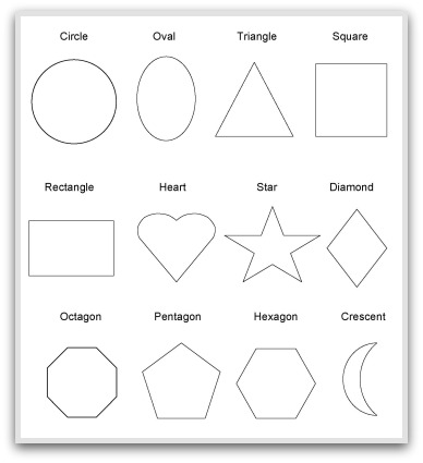 6 Images of Free Printable Shape Templates