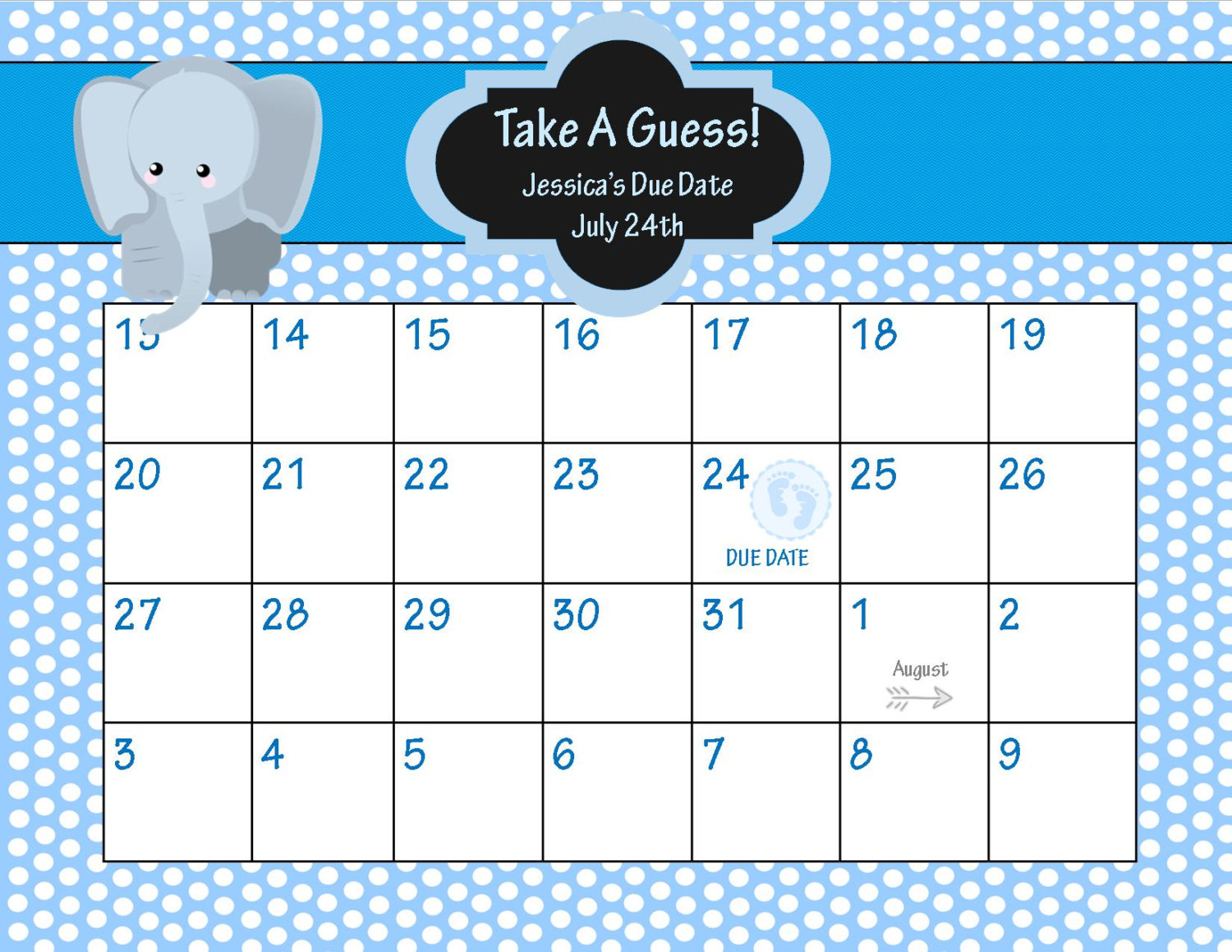 ... Baby Pool Template Printable, Guess Baby Due Date Calendar and Baby