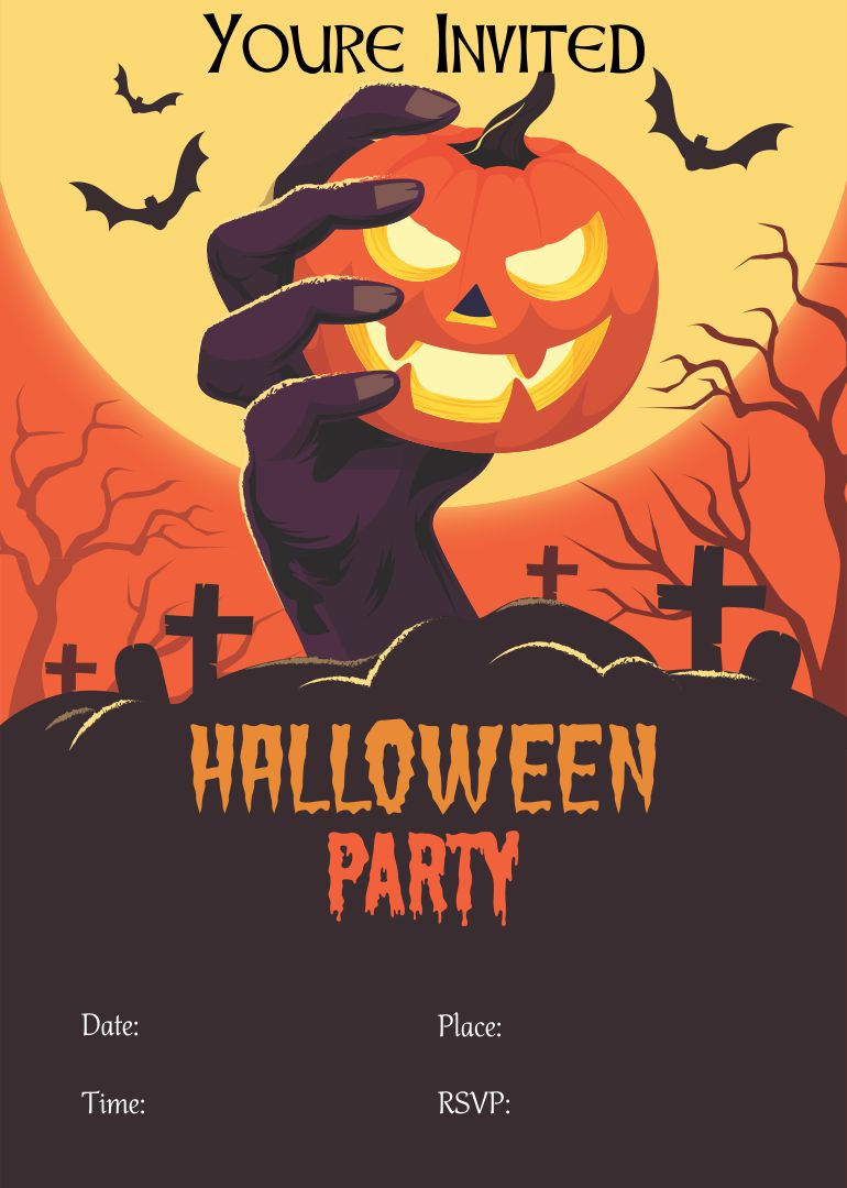 Halloween Party Invitation Printable Free