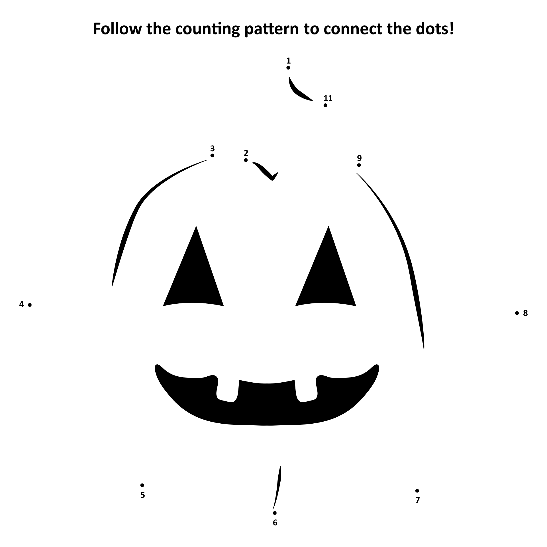 5 Images of Halloween Connect The Dots Printables