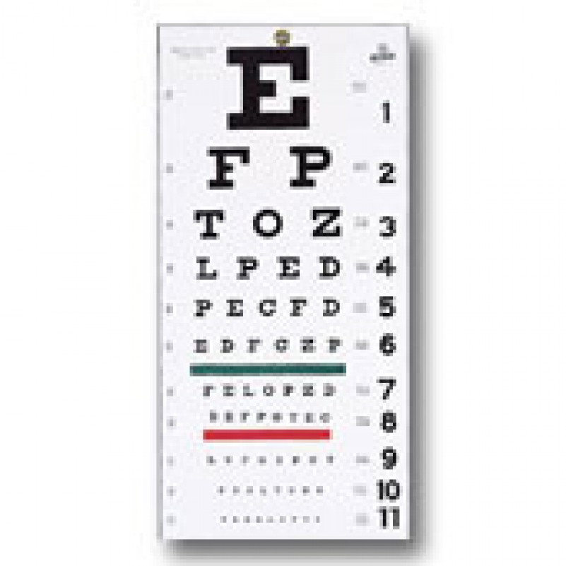 7 Images of Hand Held Eye Chart Printable