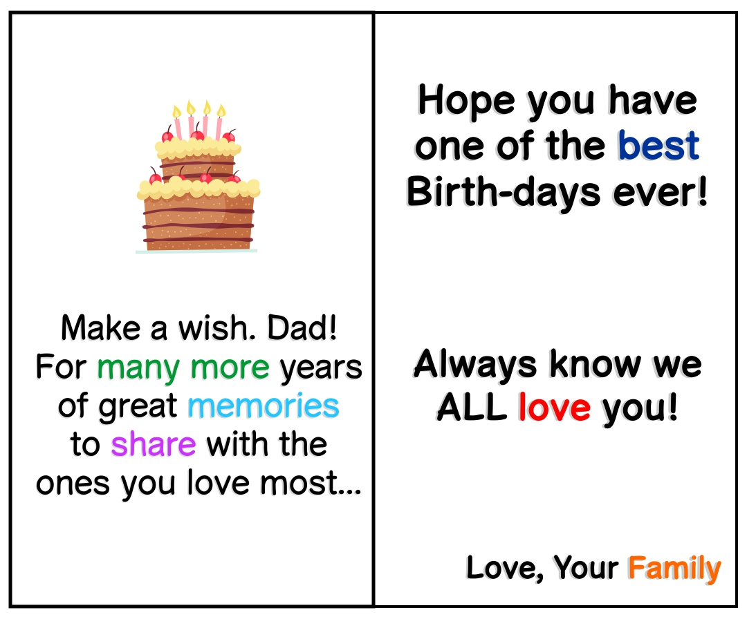 Happy Birthday Dad Cards Printable Free