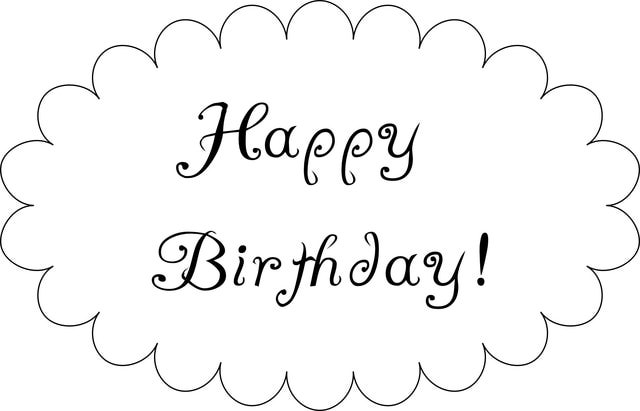 6 Images of Happy Birthday Sign Printable Black And White