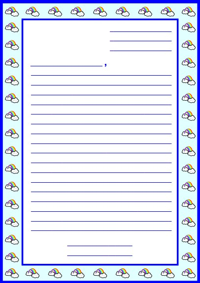 8 Images of Free Printable Letter-Writing