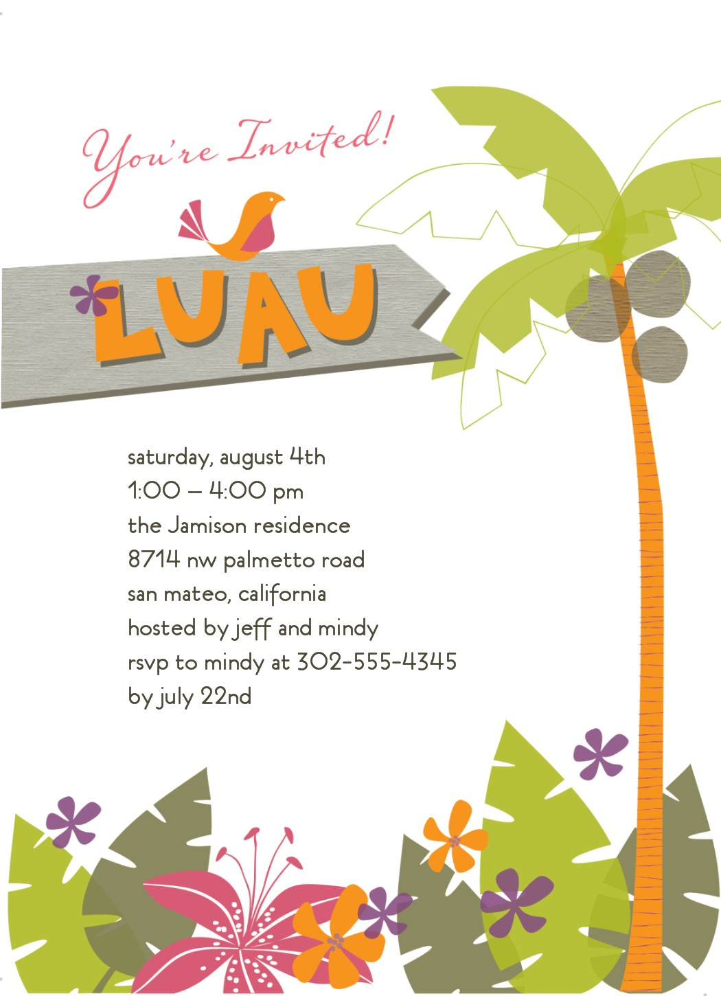8 Best Images of Luau Template Free Printable Stationery - Free Printable Luau Borders, Free