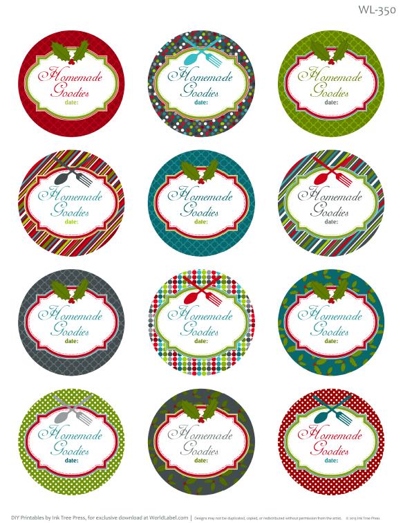 Homemade Christmas Label Templates Printable Free