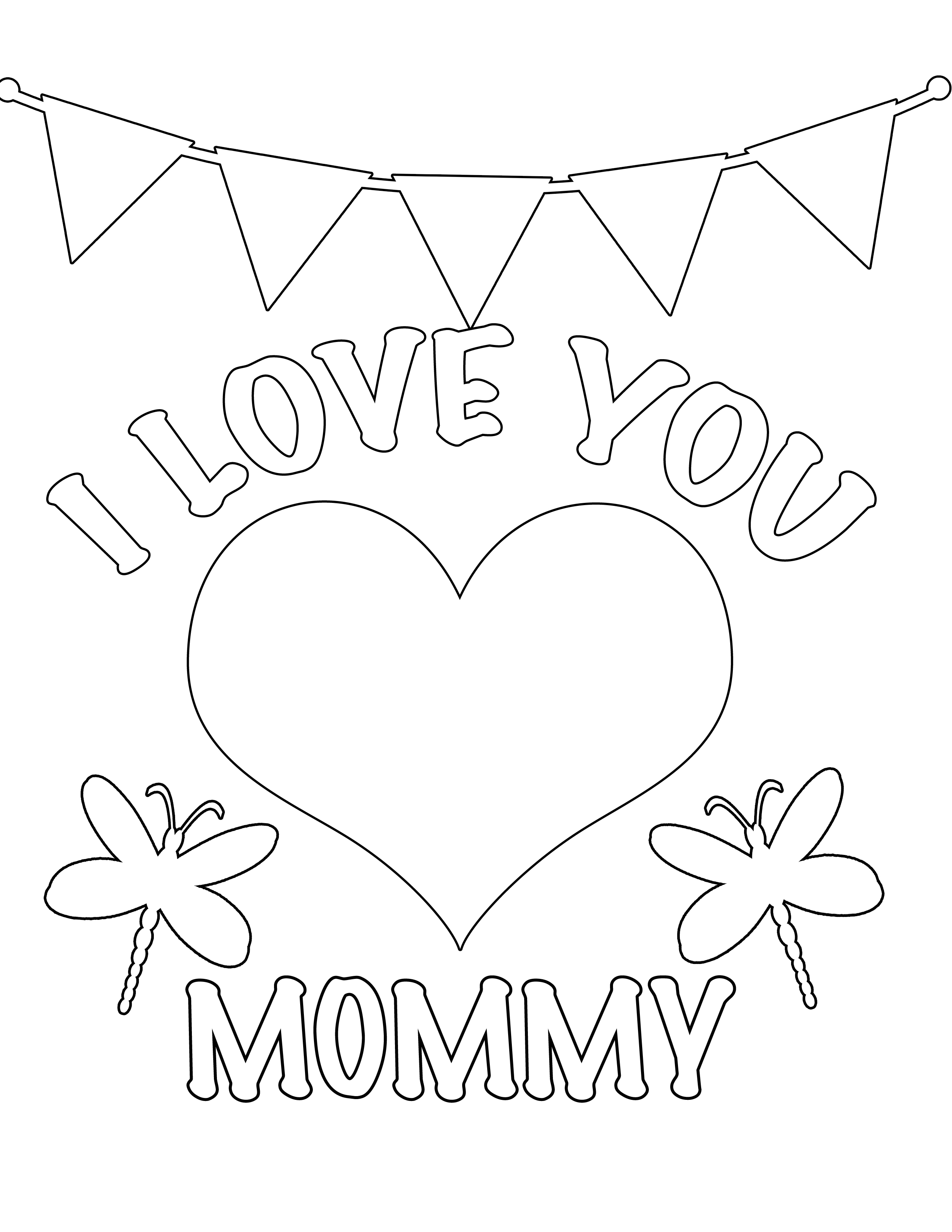 5 Best Images Of I Love My Mom Printables Printable All I You And Coloring Pages