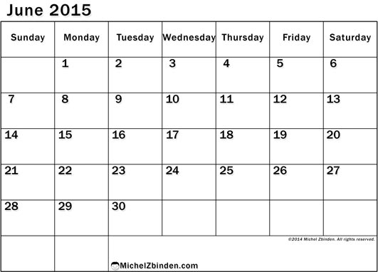 7 Images of Free 2015 Printable June Schedule