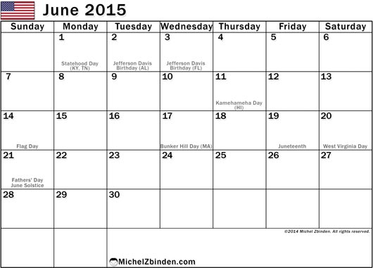 Calendar June 2015 : June holidays imgkid the image kid has it