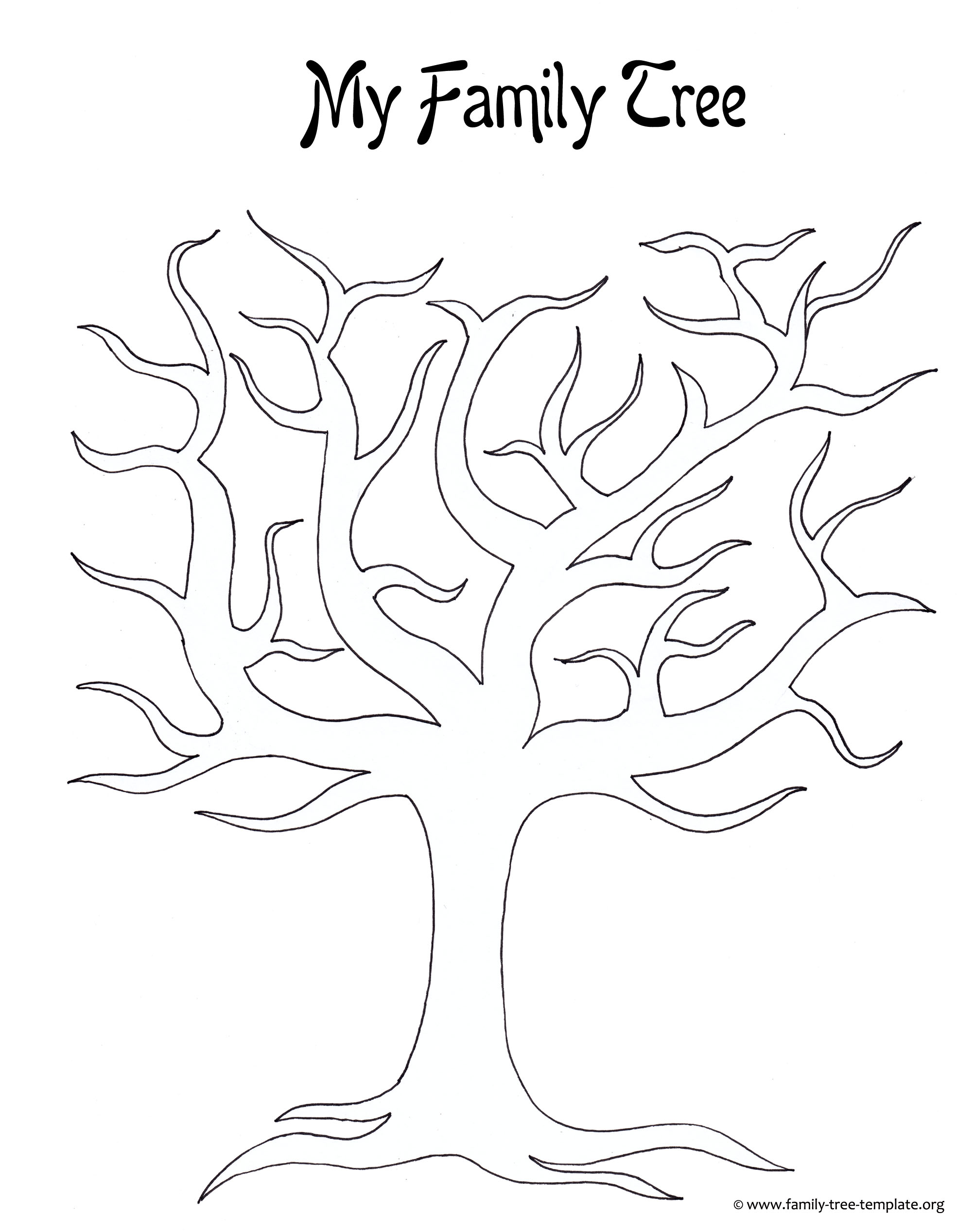 7 best images of family tree outline printable printable for Picture of family tree template
