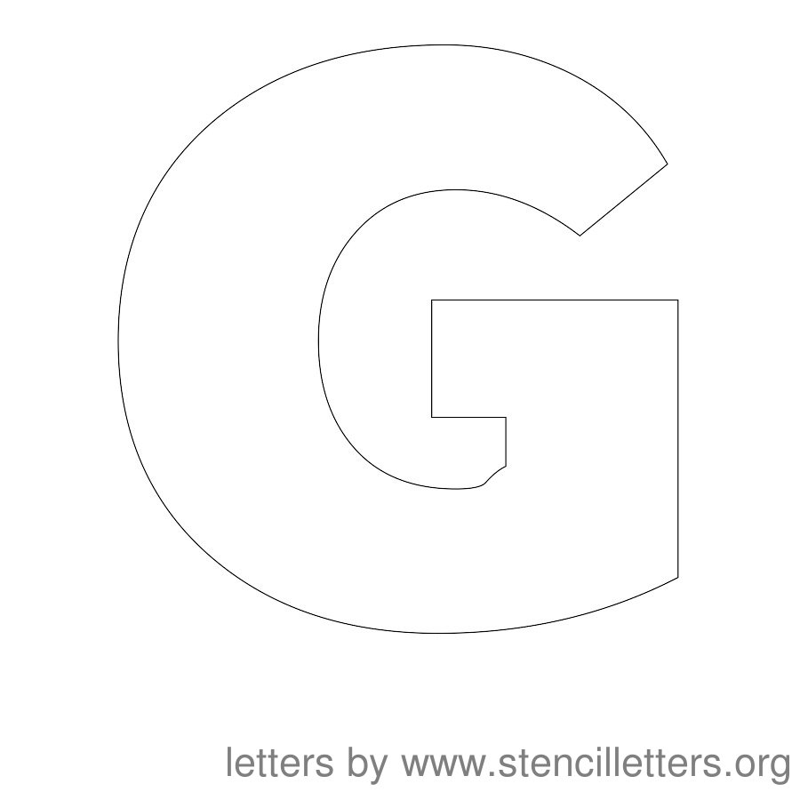 block letter g 7 best images of printable letter stencils g print out 25226