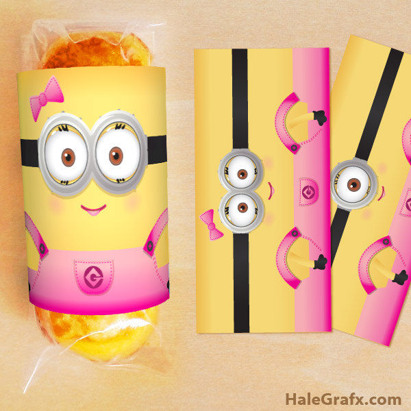 Minion Twinkie Wrapper Printable