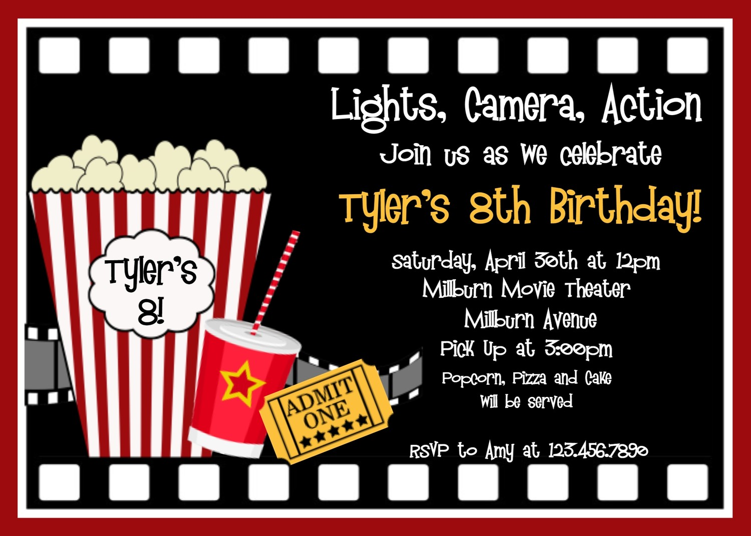 6 Images of Printable Movie Invitations