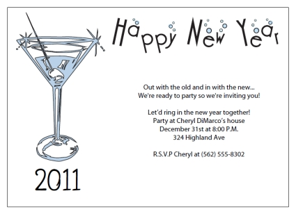 8 Images of Free Printable Invitations New Year S