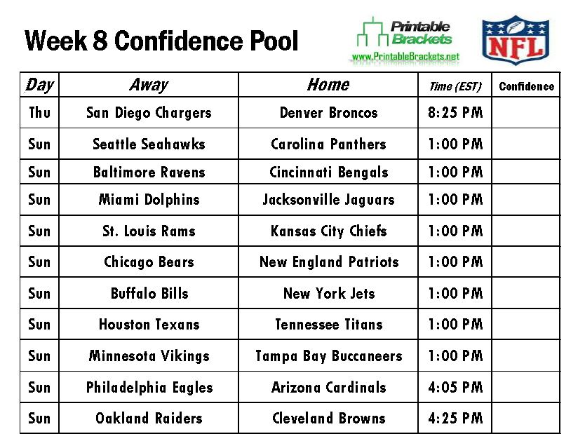 It is a picture of Gargantuan Nfl Schedule Week 2 Printable