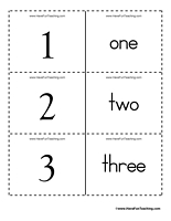 7 Images of Number Word Printable Flash Cards