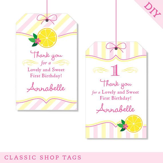 7 Images of Printable Lemonade Tags