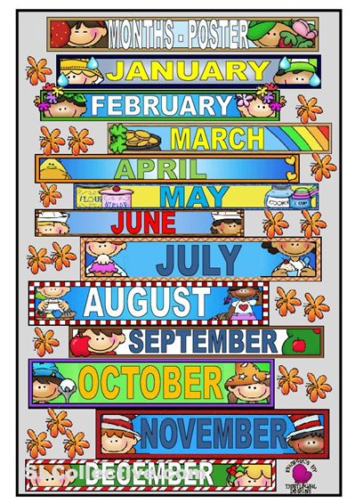 Number Names Worksheets : free printable months of the year Free ...