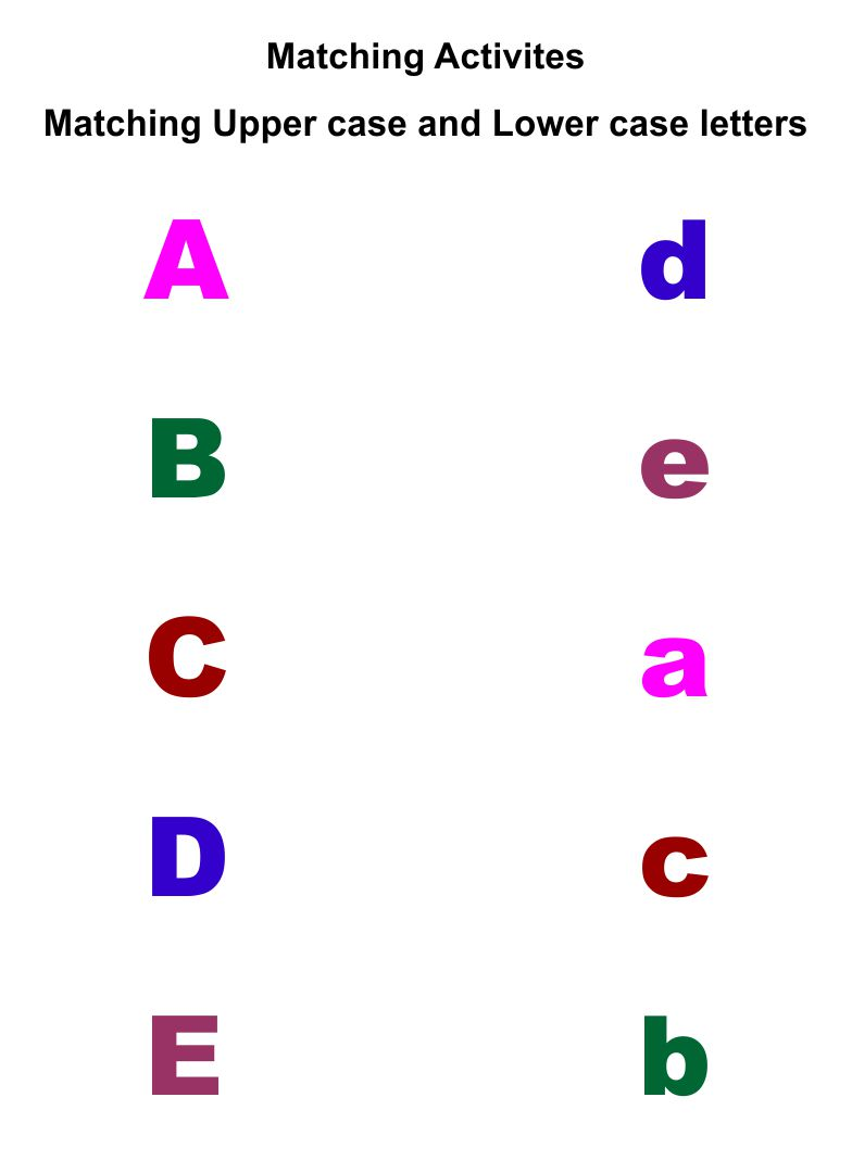 Preschool Printable Matching Alphabet Letters