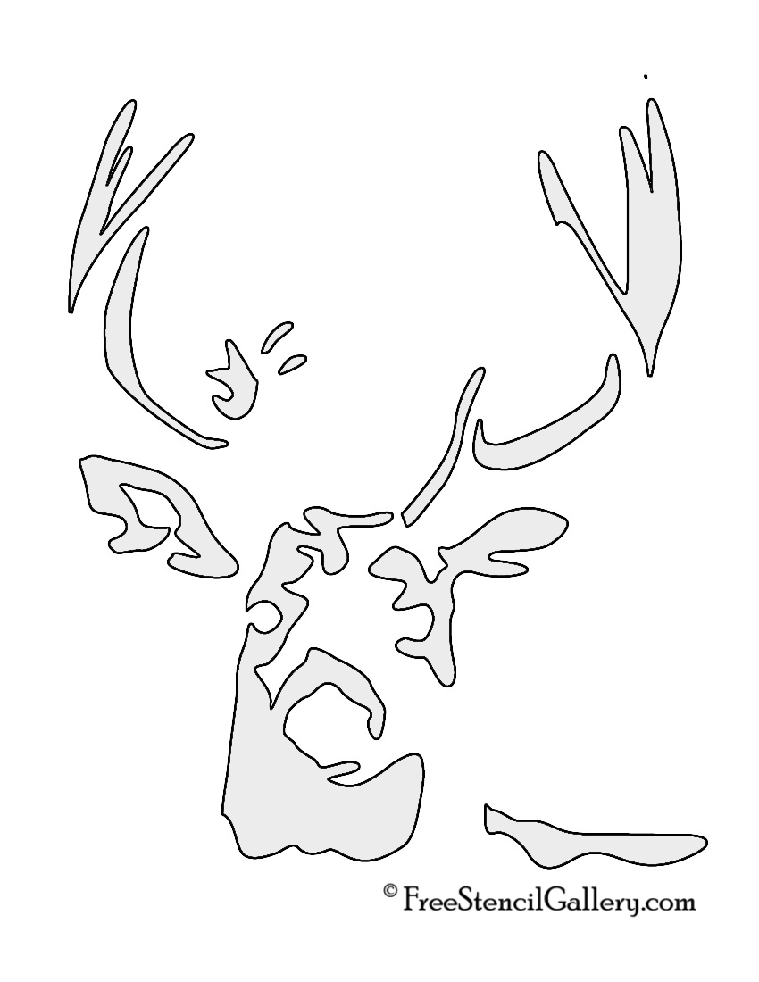 7 Best Images Of Deer Head Stencil Printable Deer Head