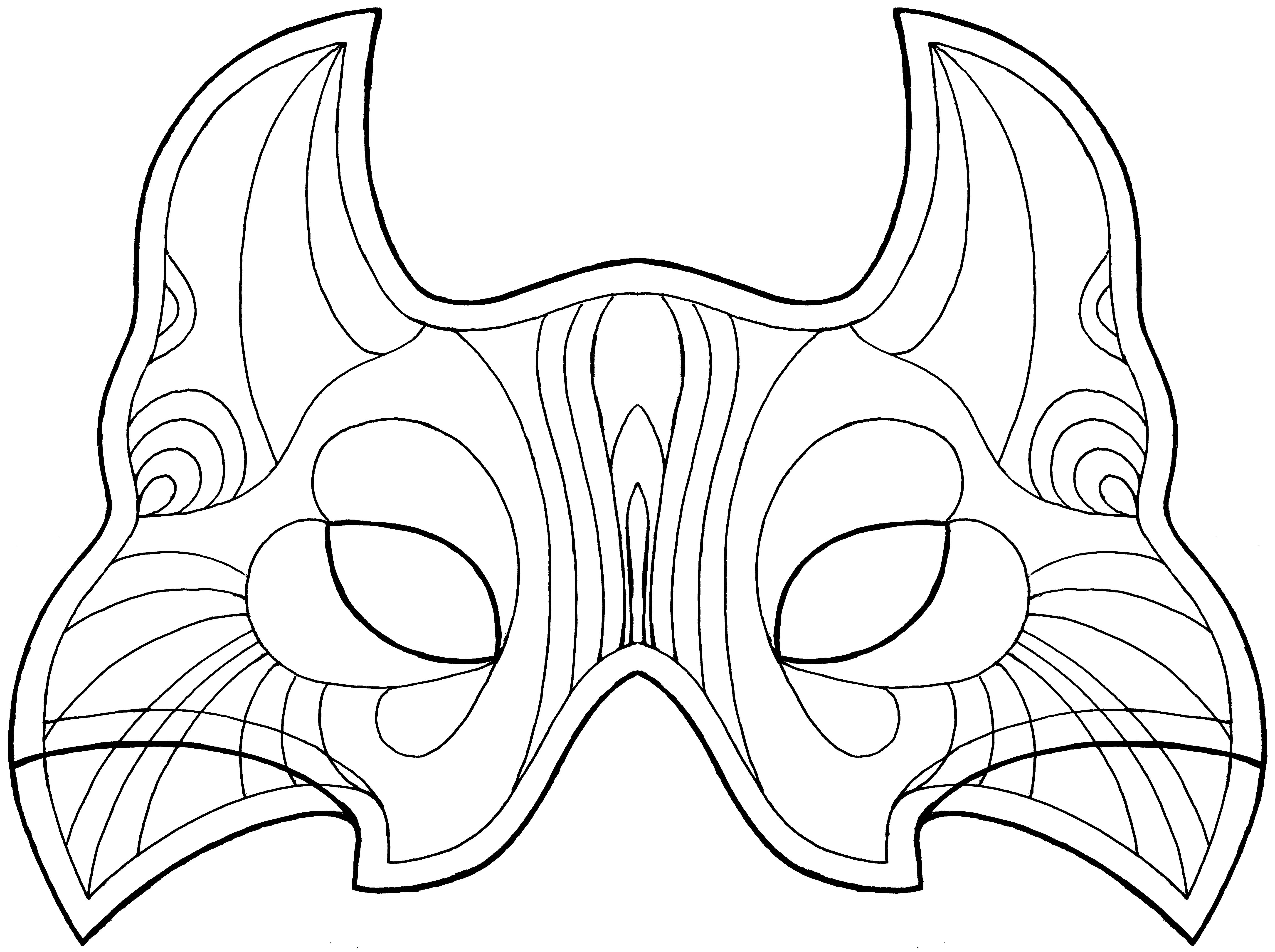 clip art mardi gras mask coloring pages breadedcat free