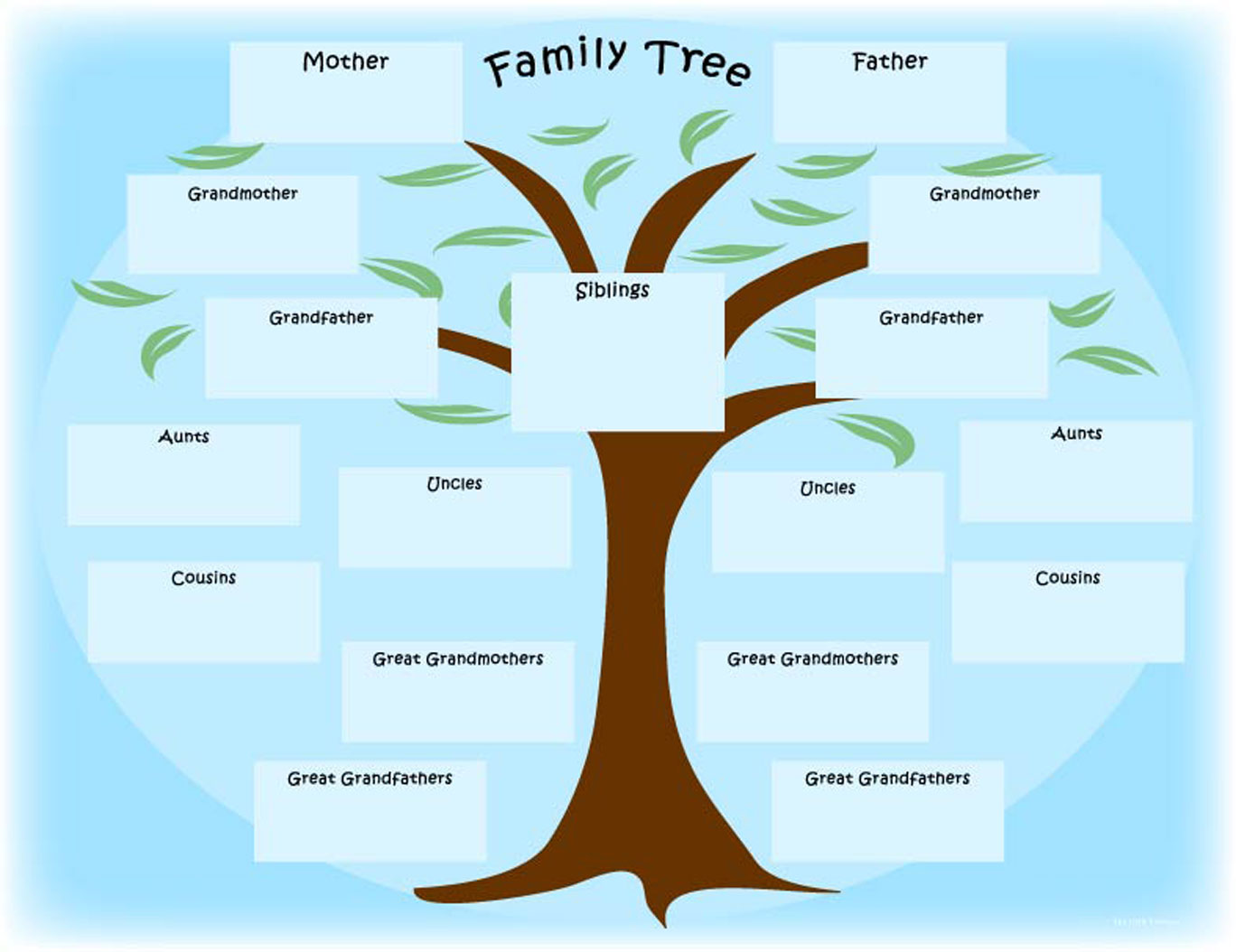 7 Images of Family Tree Outline Printable
