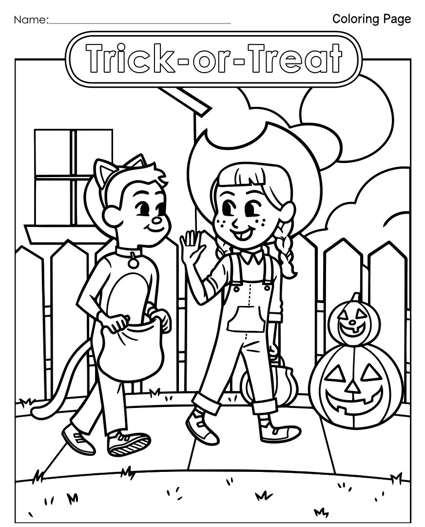 Printable Halloween Activity Worksheets