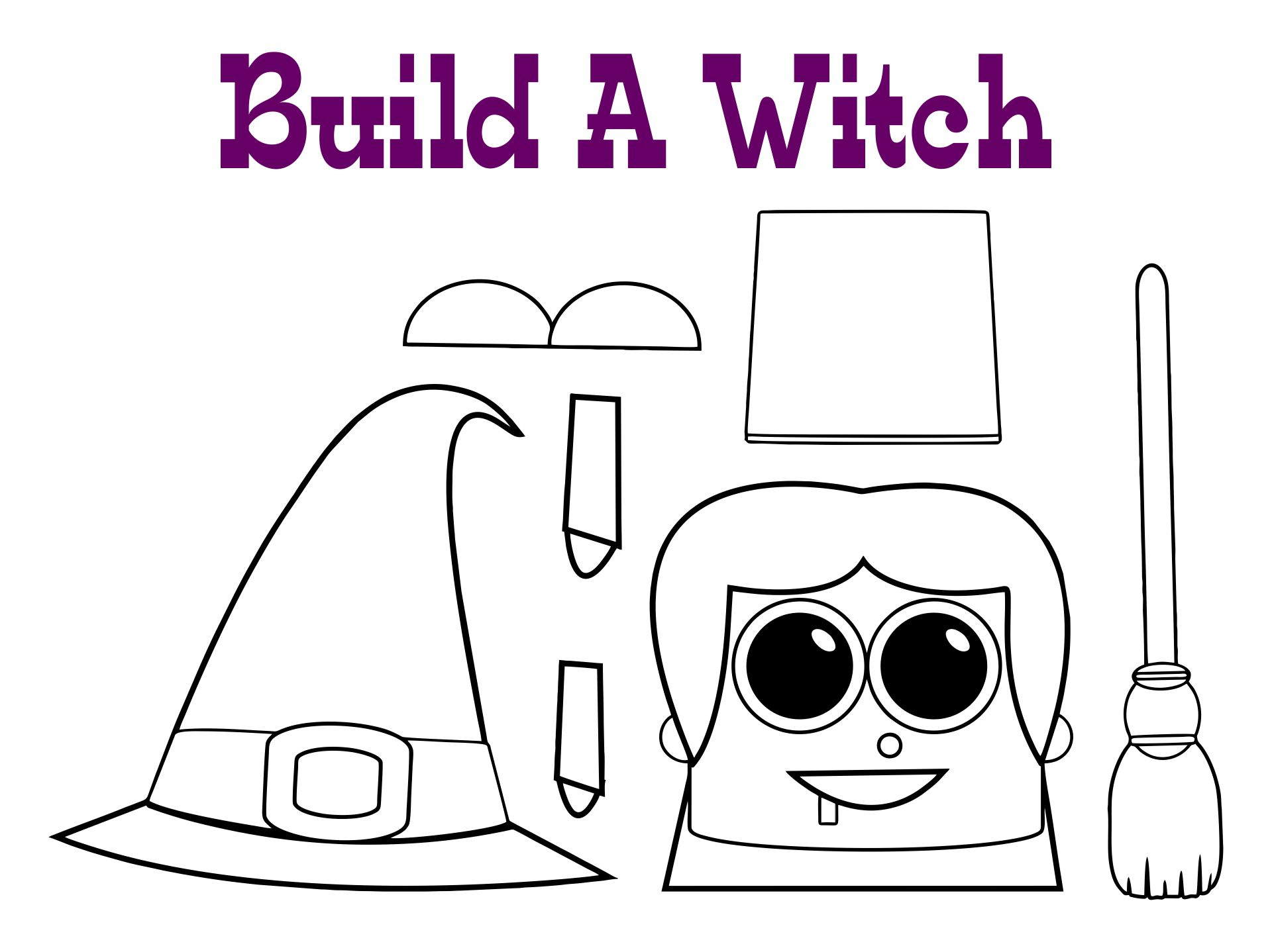 Printable Halloween Witch Crafts