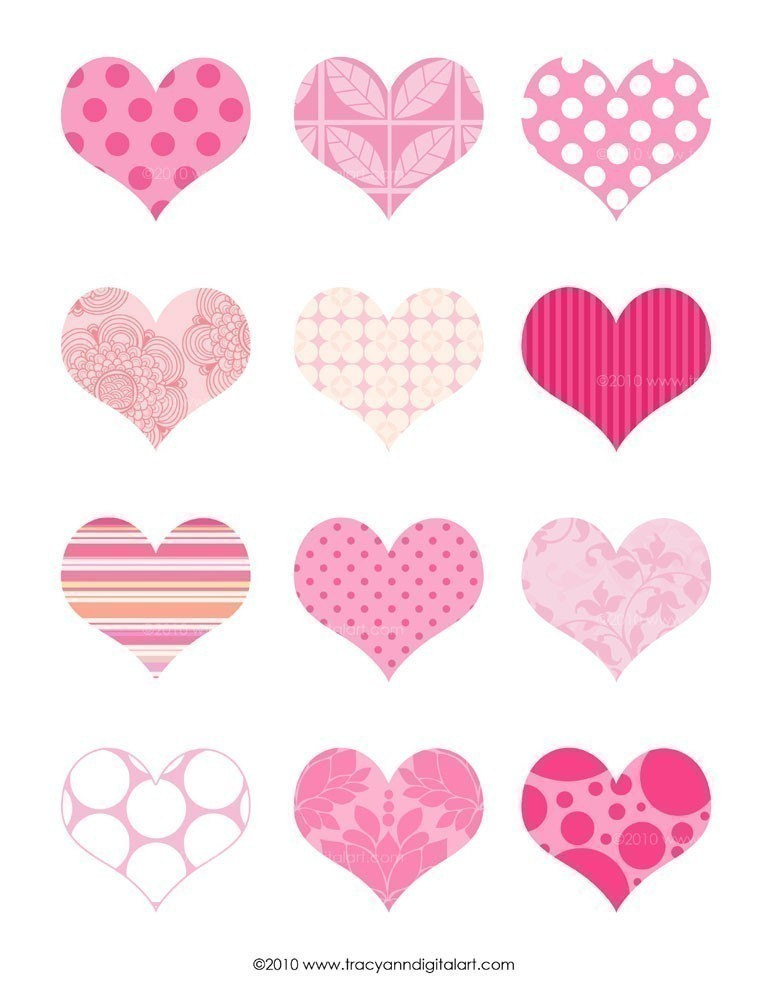 7 Images of Printable Pink Hearts