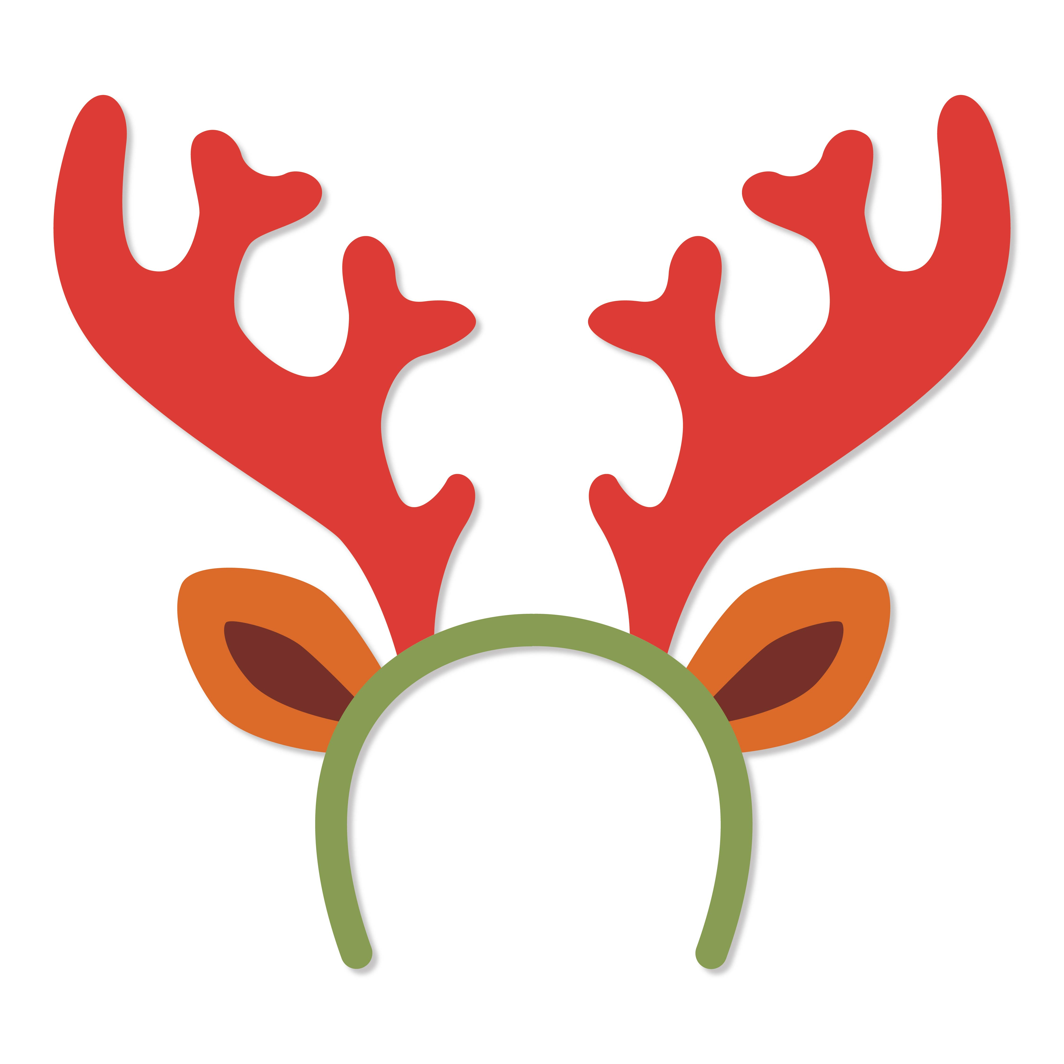 Printable Kids Christmas Craft Reindeer