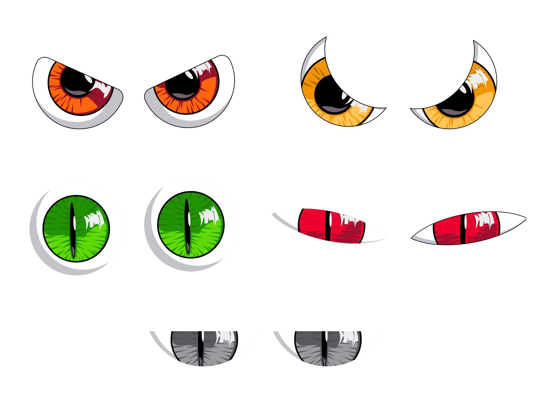Printable Monster Eyes