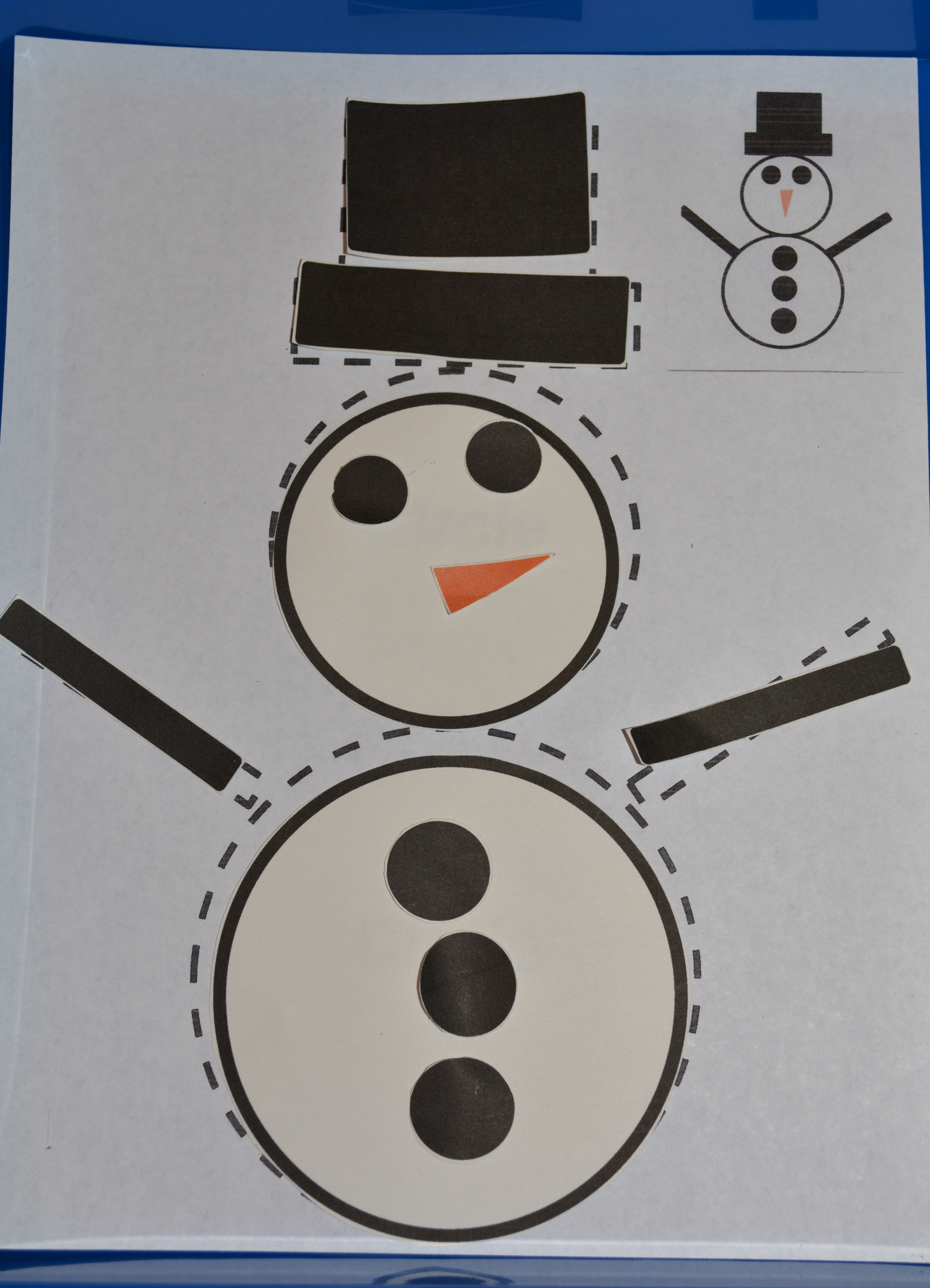 4 Images of Snowman Shapes Printables