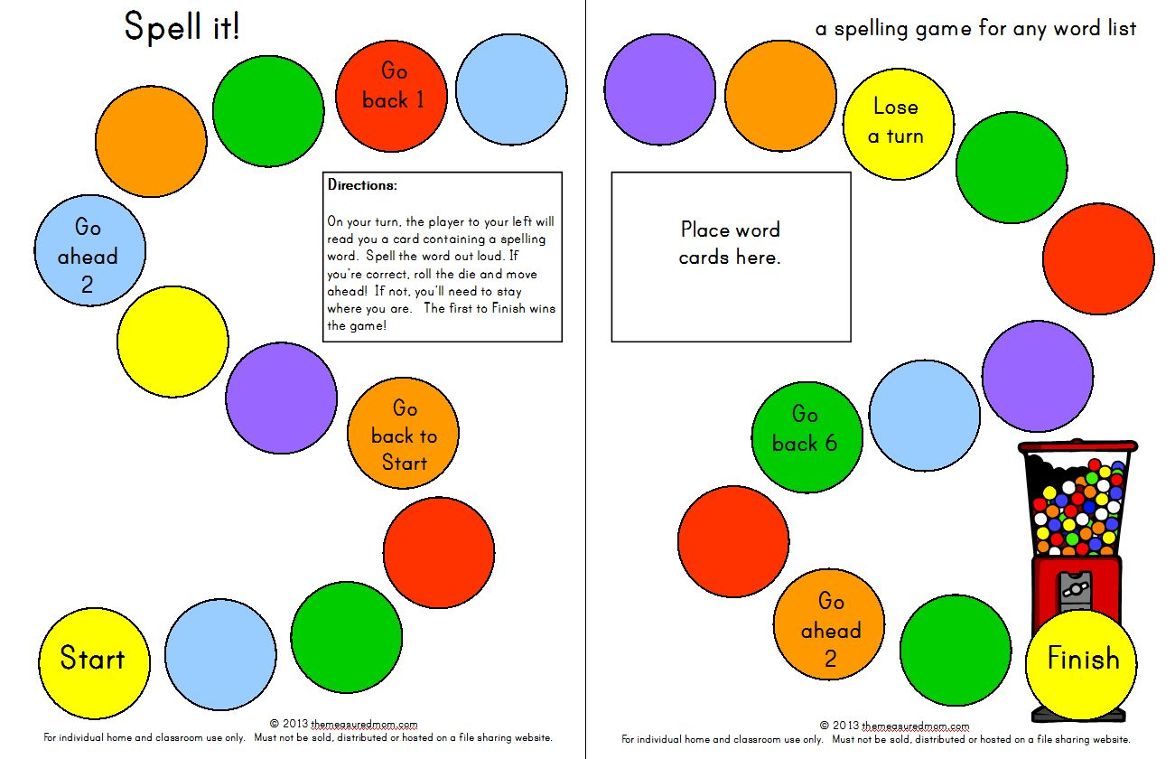 9 Images of Printable 1st Grade Spelling Games