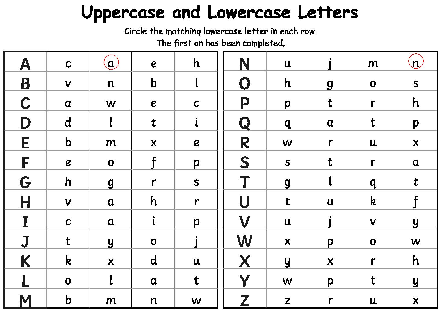 7 Best Alphabet Matching Printable Worksheets - printablee.com