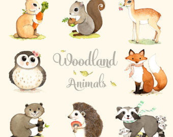 Printable Woodland Forest Animals