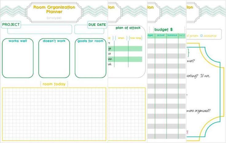 Room Organization & Planner Printable