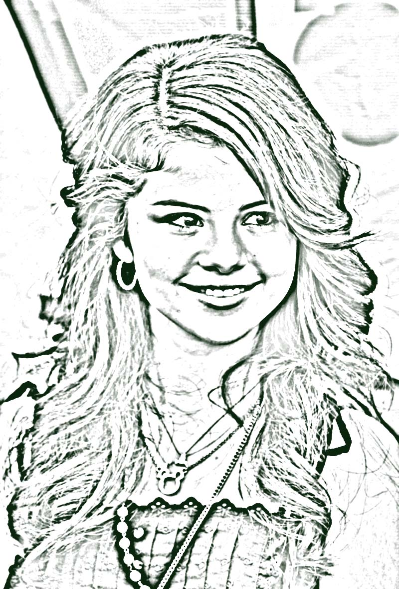 Selena Gomez Coloring Pages Printable
