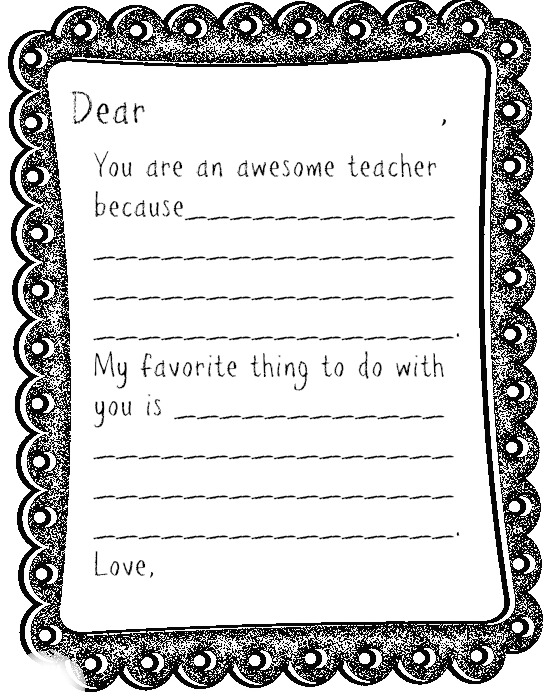 Printable Coloring Pages Teachers Day  Coloring Pages For Kids