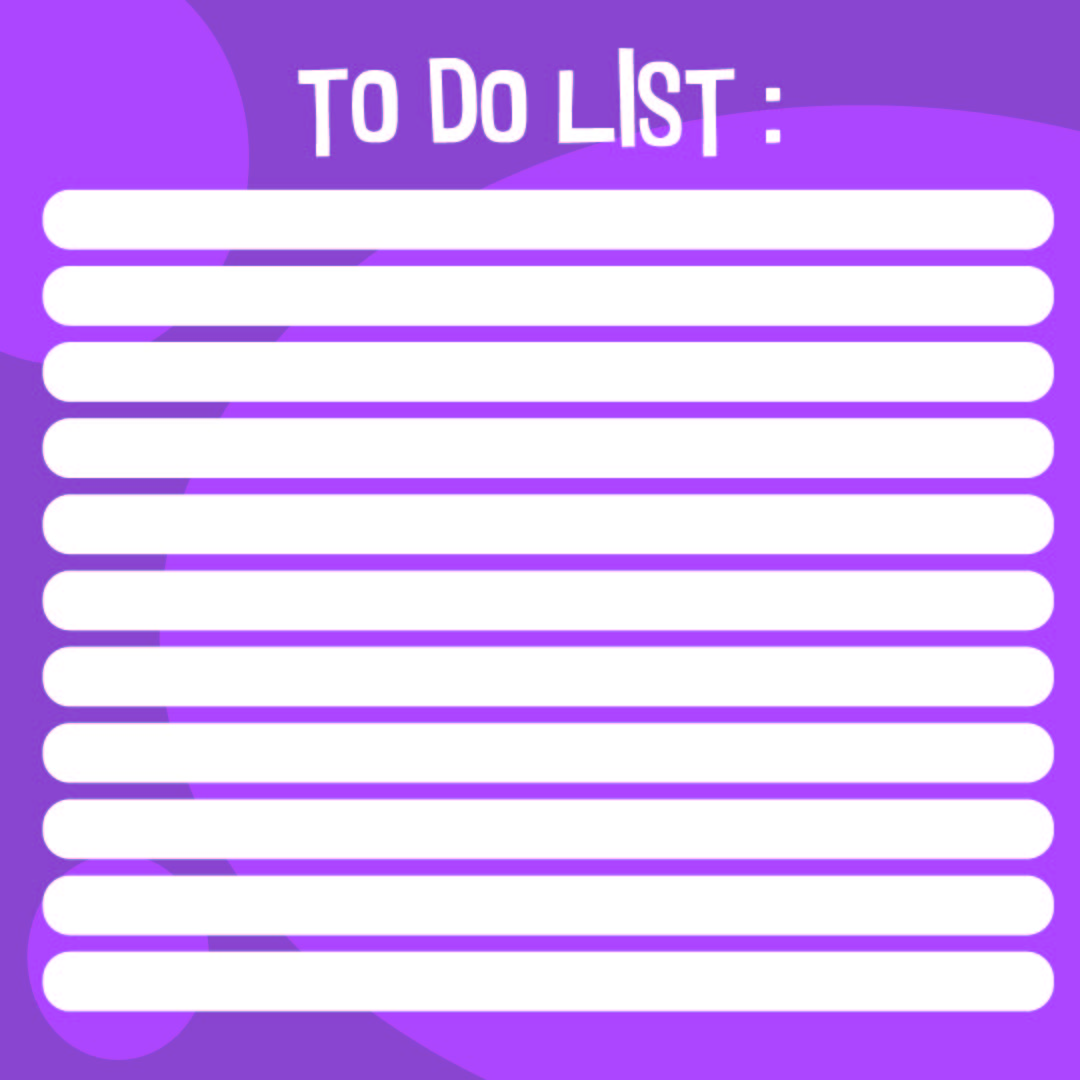 8 best images of cute to do list printable template