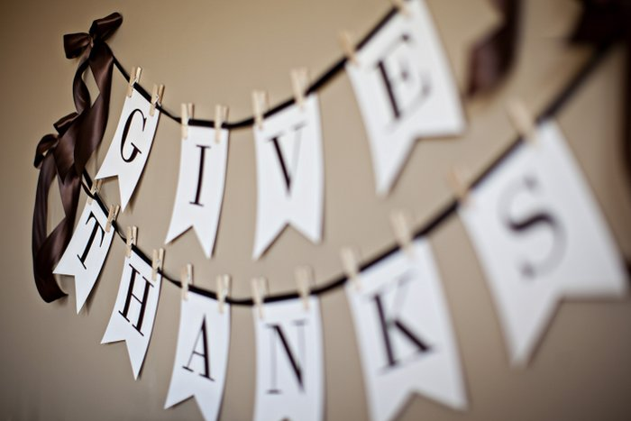 6 Images of Give Thanks Banner Printable
