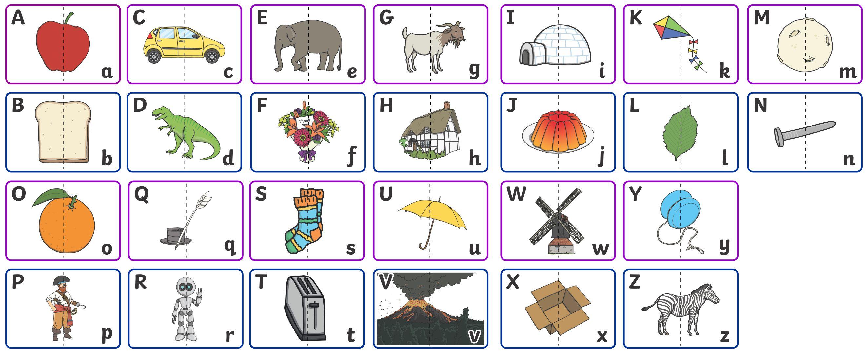 Uppercase Lowercase Letters Worksheet