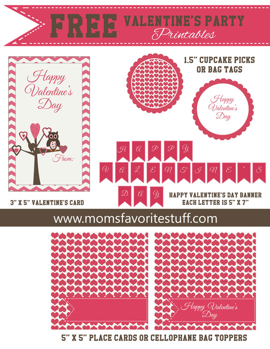 Valentine's Day Free Printables for Parties
