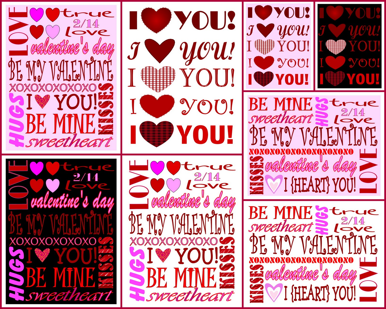 8 Images of For Him Valentine's Day Printables
