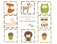 Woodland Forest Animal Printables Free