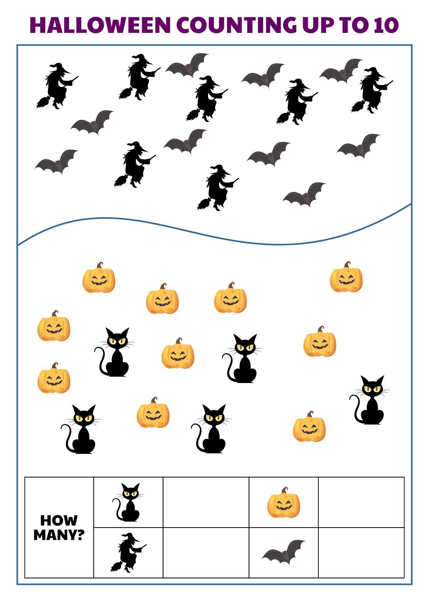 1st Grade Halloween Math Worksheets