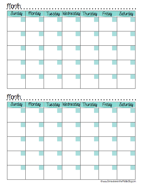 ... Months per Page, 2 Month Calendar Printable Free and Printable 2016