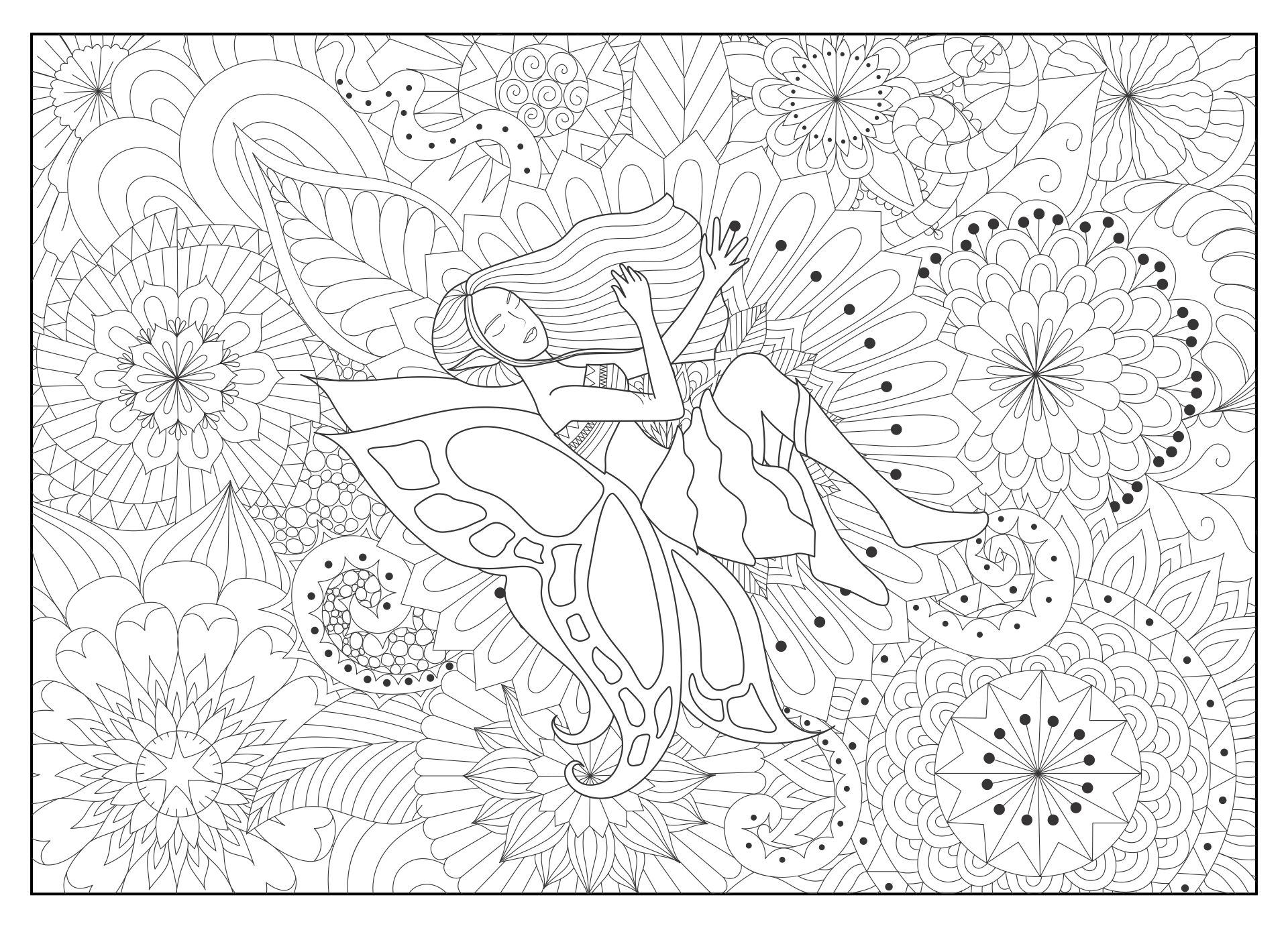 8 X 10 Printable Adult Coloring Pages
