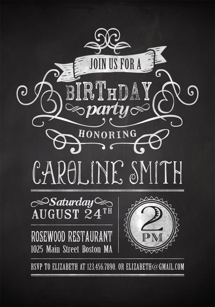 7 Images of Printable Adult Birthday Party Invitations