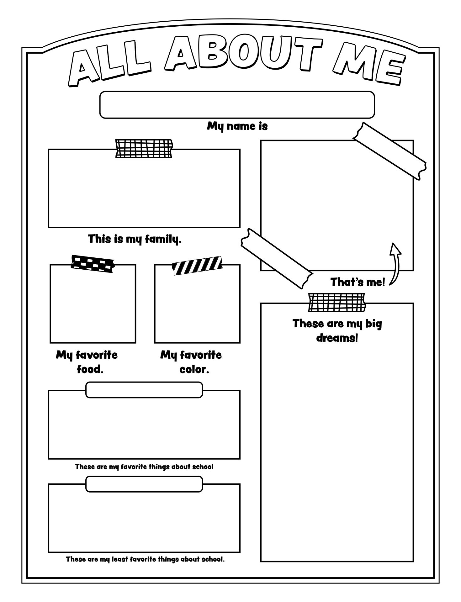 Gallery For u0026gt; All About Me Worksheet For Middle School ...